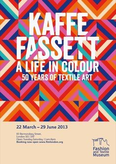Hawaii Design has created the graphics for Kaffe Fassett – A Life in Colour, the forthcoming exhibition at London's Fashion and Textile Museum