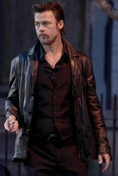 Spring Deal By NovaFashions.com - Killing Them Softly Black Jackie Cogan Leather Jacket 100% high leather price match guranteed http://www.novafashions.com/products/Killing-Them-Softly-Leather-Jacket.html #mens #swag #sales #deals #shopping #online #celebrityfans #mensfashion #clothing #cosplay #outfits #winteroutfit #celebs #celeb