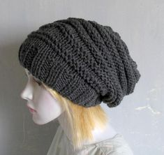 Sacking Winter Hat  Slouchy Beanie Hat Oversized Hat  Chunky