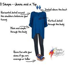O shape jeans and a