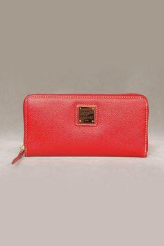 Dooney & Bourke Davis Zip Around Wallet in Red