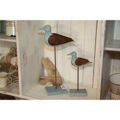 styl skandynawski, artykuly dekoracyjne, shabby chic, styl francuski, styl prowansalski ,sklep internetowy, belldeco, home decor , Ideal Home - Drewniany ptak figurka niebieski duży