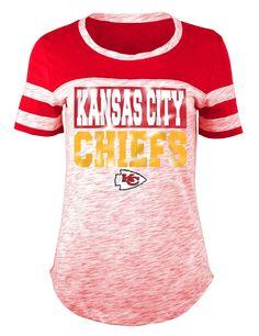 Ocean Women s Kansas City Chiefs Space Dye Foil T-Shirt Women - Sports Fan  Shop By Lids - Macy s cbf99b1f9