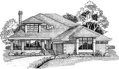 Eplans Prairie House Plan - Gently Rustic Nature - 3058 Square Feet and 4 Bedrooms from Eplans - House Plan Code HWEPL06323