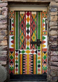 Bin Hamsan house door in Khamis Mushayt - Saudi Arabia by Eric Lafforgue, via Flickr