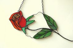 Hey, I found this really awesome Etsy listing at https://www.etsy.com/listing/120154622/stained-glass-rose-stained-glass-flower