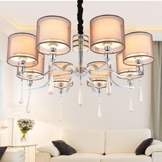 Multiple Chandelier crystal living room bedroom dining room  light fashion simple hotel lamps wholesale ZX100 #Affiliate