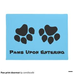 Heart Dog Paw Print   HOME  Personalized Doormat | Dog Paws, Doormat And Dog