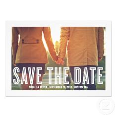 RETRO COUPLE | SAVE THE DATE ANNOUNCEMENT #navyblue