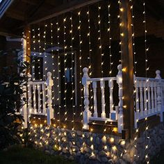 BingXing Window Curtain String Lights with 304 LEDs, 8 Modes, 9.8 x 9.8 feet…