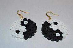 Perler Bead Yin Yang Earrings by PerlerDesignsbyKati