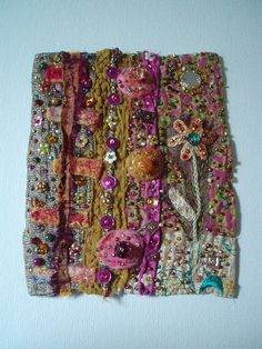 fabric collage Pinned by @Manaro Design  Jewelry | Beading | Bracelet | Necklace | Earrings