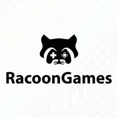 Logo Design of a racoon with the face as a joystick For Sale On StockLogos | Racoon Games logo