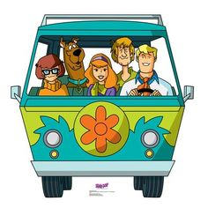 This is a standee of the Mystery Machine from Scooby-Doo! It features a single-sided, high-quality print on cardboard with an easel on the back so that it can stand on its own. Scooby Doo Images, Scooby Doo Pictures, Scooby Doo Personajes, Monster Party, Desenho Do Scooby Doo, Mystery Machine Van, Scooby Doo Mystery Incorporated, Life Size Cardboard Cutouts, Daphne And Velma