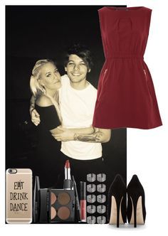 Lottie & Louis Tomlinson by irish26-1 on Polyvore featuring polyvore fashion style Mela Loves London Giuseppe Zanotti Topshop Casetify MAKE UP FOR EVER clothing