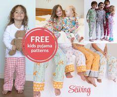 Free Kids Pyjama and Onesie Sewing Patterns