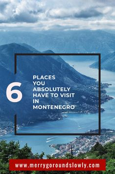 6 Best places in Montenegro: A list of best places to visit in Montenegro, including Kotor, Budva, Ulcinj Velika Plaza Beach, Lake Skadar, Durmitor and the Black Lake. #montenegro #balkans #budva #kotor #durmitor #europe #travel #inspiration #crnagora #ulcinj