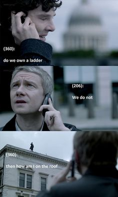 Blame the ladder. XD << excuse me... I love this. Texts from 221B Baker Street