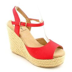 Red Suede Wedge Sandals by Volatile. Buy for $15 from buy.com