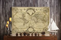 L'Isle's 1720 Old World Map Historic Map by VintageImageryX