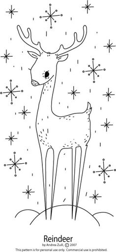 FREE Christmas and Holiday Patterns: Reindeer in the Snow