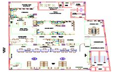 Bank office building architecture layout plan details dwg file - Cadbull Office Building Plans, Building Layout, Architecture Layout, Office Building Architecture, Banks Office, Banks Building, Waiting Area, Reception Areas, Autocad
