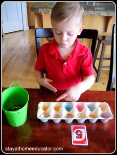 Egg Carton Counting...one to one correspondence