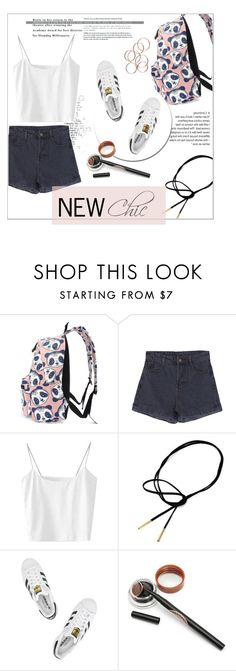 """#newchic"" by valenouladls ❤ liked on Polyvore featuring adidas Originals, chic, New and newchic"