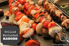 Grilled Marinated Kabobs | No Thanks to Cake