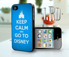 Keep Calm and Go To Disney Blue - iPhone 4 4s Case. $14.95, via Etsy.