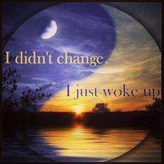 I didnt change I just woke up _/_  Brilliant!