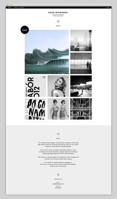 web + minimal + images + grid + fluid Webdesign Inspiration for simple and minimal, minimalistic Websites. Clean Layout and User Interface Designs, Portfolios, Fashion, Landing Pages and Modern Templates Web Design Trends, Site Web Design, Design Sites, News Web Design, Email Design, Cv Inspiration, Webdesign Inspiration, Website Design Inspiration, Graphic Design Inspiration