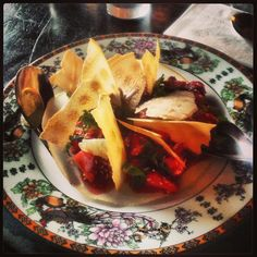 North's Strawberries, sesame seeds & wonton wrappers 7.7.2013 #Providence #RI