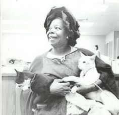Butterfly McQueen with cats