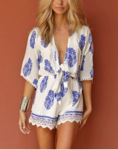 If only I could pull off a romper....Beach Romper - Cissie