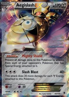 Aegislash EX 65/119 - Pokemon XY Phantom Forces ULTRA RARE PREORDER SHIPS 11/9 #Pokemon