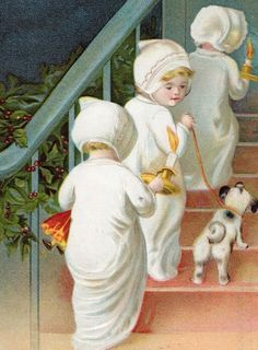 Tip Toe - Vintage Christmas Images | Public Domain | Condition Free By Nancy Oram