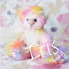 Rainbow artist bear collectible teddy bear multicoloured