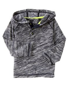 $6.99 Space Dyed Hooded Henley at Gymboree