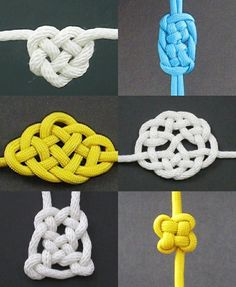 Learn how to make paracord projects like bracelets & slings, braid decorative Celtic knots, bushcraft skills and more, with the best books & free videos. Paracord Knots, Rope Knots, Macrame Knots, Macrame Bracelets, Tie The Knots, Paracord Bracelets, Jewelry Knots, Jewelry Crafts, Jewellery