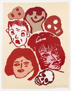 Donald Baechler: Crowd #45, 2011 | Pace Prints