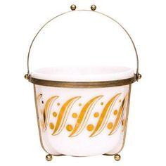 Mid-Century Ice Bucket W/ Brass Caddy on Chairish.com