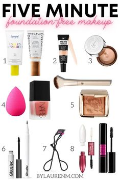Virginia blogger, Lauren Dix, shares her five minute foundation free makeup routine for summer! How To Apply Foundation, Curl Lashes, Anti Redness, Lash Primer, Under Eye Concealer, Makeup Routine, Diy Skin Care