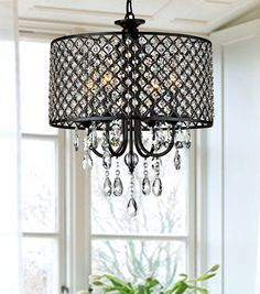 Anna 4 Light Drum Chandelier by PPM IMPORTS #PPMIMPORTS #Contemporary