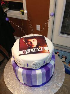 Justin Bieber believe cake