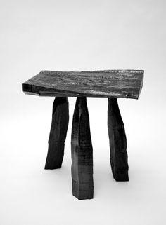 Max Lamb - Urushi Laquer Stool black wood