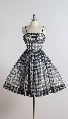 Deerstalker . vintage 1950s dress . vintage cocktail dress . 5564