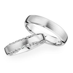White gold wedding bands by Christian Bauer