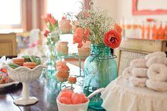 32 best aqua coral weddings images dream wedding getting rh pinterest com Gray and Coral Wedding Centerpieces Wedding Centerpieces On a Budget