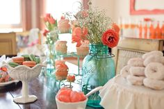 coral and aqua party fabulosity